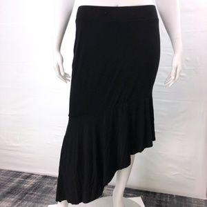 Torrid asymmetrical black skirt size 3